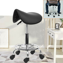 Saddle Salon Stool Massage Swivel-Chair Barber Hairdressing Rotation Beauty for Spa Ha-Feet