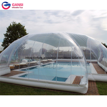 Rectangle transparent clear inflatable swimming pool cover PVC winter covers dome tents