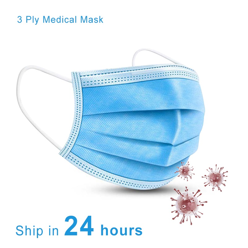 Face Masks Disposable Mask Anti Dust 3 Layer Adult Anti-fog  Face Masks Breathable Mouth Cover 50pcs