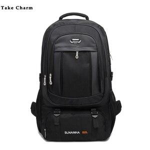 Мужской Дорожный рюкзак, вместительный, 50 л, для кемпинга, альпинизма, черный, темно-синий