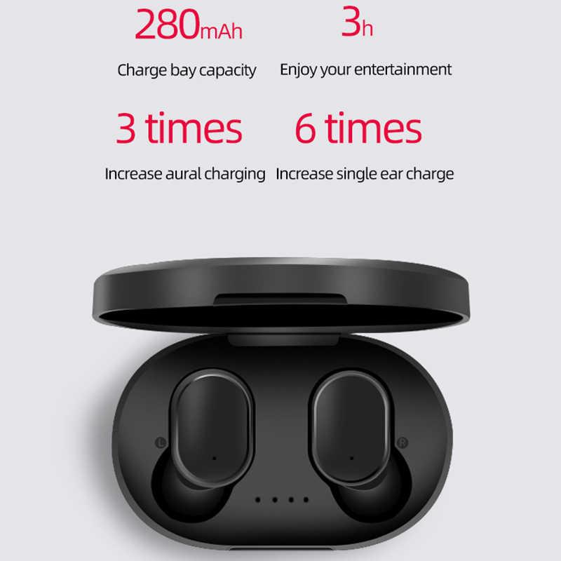 Senza fili di Bluetooth A6S TWS 5.0 bluetooth del trasduttore auricolare per il iPhone Xiaomi Redmi Huawei Samsung Auricolari Con Cancellazione del Rumore Mic Cuffie