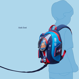 Image 5 - Anti lost Kids School Bags 3D Cartoon Shaped Airplane Design Backpack for Girls Boys Aircraft bags mochila infantil Escolares