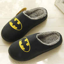 Girls Winter Fur slippers Large size 42-45 Funny Cartoon Home shoes for women Flock Short plush TPR House girls