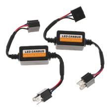 H4 h7 9005 9006 h11 9007 adaptador de resistor de carga led fixo hiper piscante canbus erro aviso cancelador