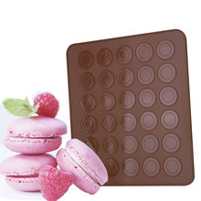 Silicone Macaron Macaroon Cake Pastry Oven Baking Mould Sheet Mat 30-Cavity DIY Mold Baking Mat Kitchen Bakeware tools(China)