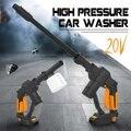 Sem fio de alta pressão da arruela do carro armas 20 v portátil sem fio líquido de limpeza pressão rechargable cuidados com o carro máquina lavar com tubo de 5m