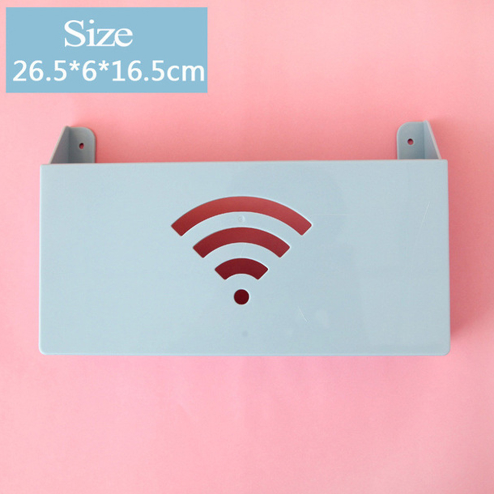 New Upgrade Wall-mounted Router Storage Box 4 Color Wifi Shelf Box Firmly Hanging Self-adhesive Storage Box Super Signal Hot