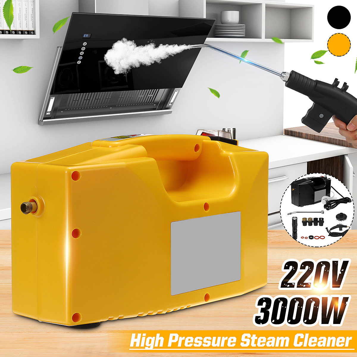 220V 3000W High Pressure Temperature Steam Cleaner Handheld Kitchen Cleaning Machine Automatic Pumping Sterilization Disinfector