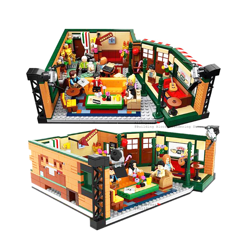 IN STOCK 2020 New Classic American Drama Friends Cafe Central Park Model Building Block Bricks Legoinglys 21302 Toy Gift Kids