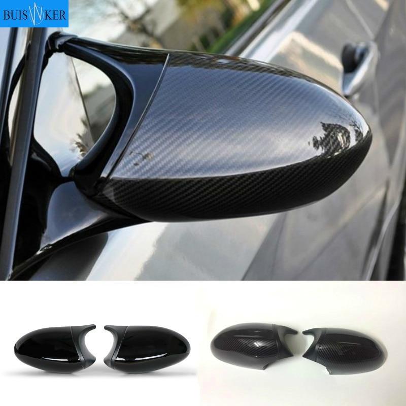 Cubierta de espejo lateral tipo alerón de carbono, alta calidad, color negro, para BMW 1, 3 Series, E82, E88, 2007 ~ 2009, E90, E87, E91, E93, E81, E92