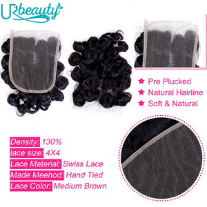 Image 5 - Brazilian human hair bundles with closure wavy bundles with closure middle part 100% human hair UR Beauty Remy hair nature color