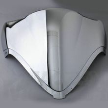 Chrome Motorcycle Windshield Windscreen Dual Bubble For Suzuki YAMAHA YZF R6 Accessories