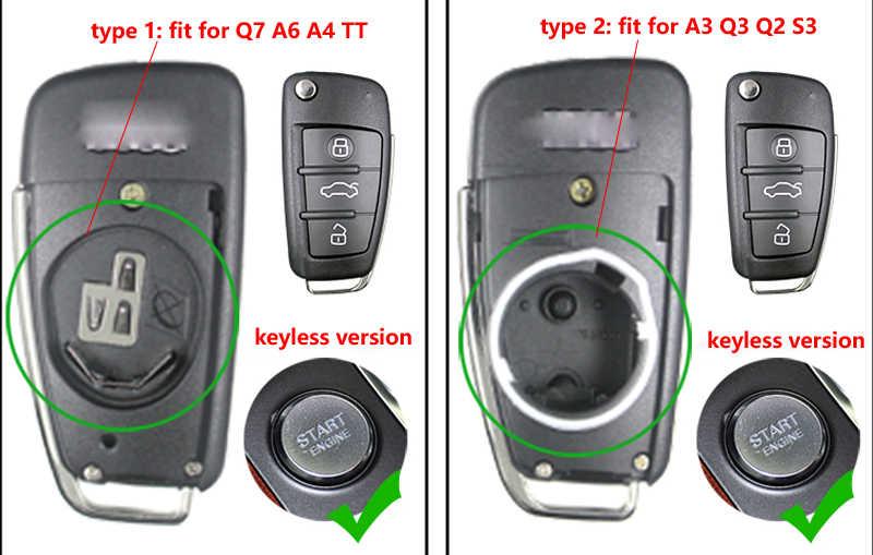 Xe Sửa Đổi Từ Xa Vỏ Chìa Khóa Thay Thế Móc Khóa Chìa Khóa Thông Minh Dành Cho Xe Audi A3 A4 A6 A8 Q2 Q3 Q5 Q7 s3 Sửa Đổi Từ Xa Chìa Khóa