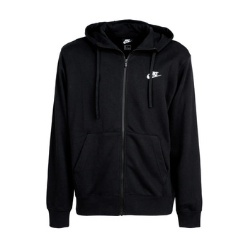 Sportswear club-black sweatshirt full zip hoodie