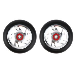 2pcs 100mm Pro Stunt Scooter Replacement Wheels with 608 ABEC-9 Bearing