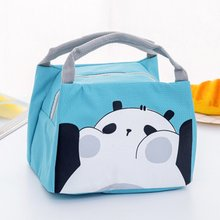 Student Lunch Bag Thermal Bag Cooler Handbag Food Picnic Lunch Pouch Storage Ice Bags Neutral Portable Lunch Box Bag 2 layers family cooler bags thermal iced drink lunch box picnic food storage shoulder handbag pouch accessories supplies product