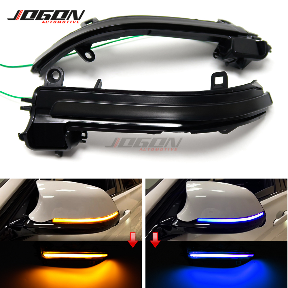 <font><b>LED</b></font> Dynamic Turn Signal Side Mirror Sequential Light Indicator For <font><b>BMW</b></font> 1 2 3 4 Series X1 F20 F21 F22 <font><b>F30</b></font> F31 F34 F32 E84 i3 image