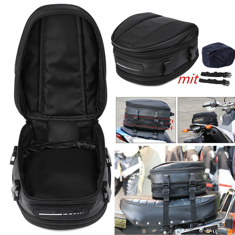 Waterproof Motorcycle Bag 7.5-10L Bags Motorcycle Luggage Seat Mount Box Hand Black Fashion