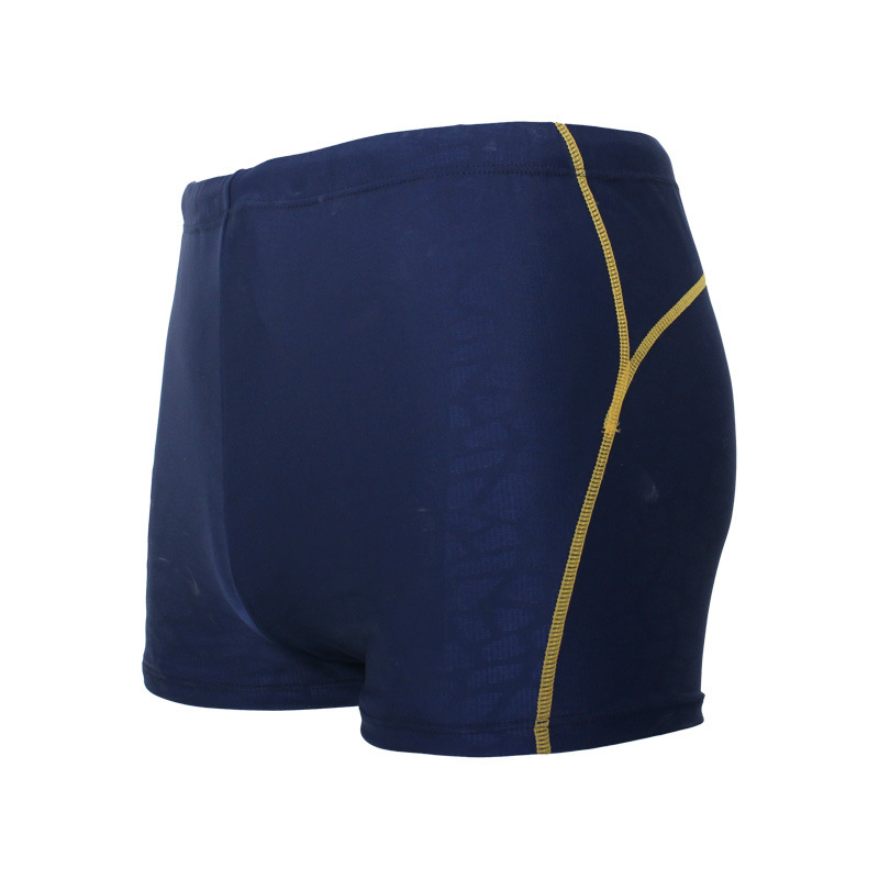 New Style Hot Springs Beach Korean-style Contour Plain Color Pressure Floral Men Boxer Swimming Trunks Quick-Dry Xingcheng