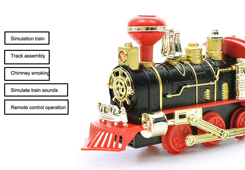 Пульт дистанционного управления транспортный автомобиль электрический паровой дым RC поезд набор модель игрушка в подарок