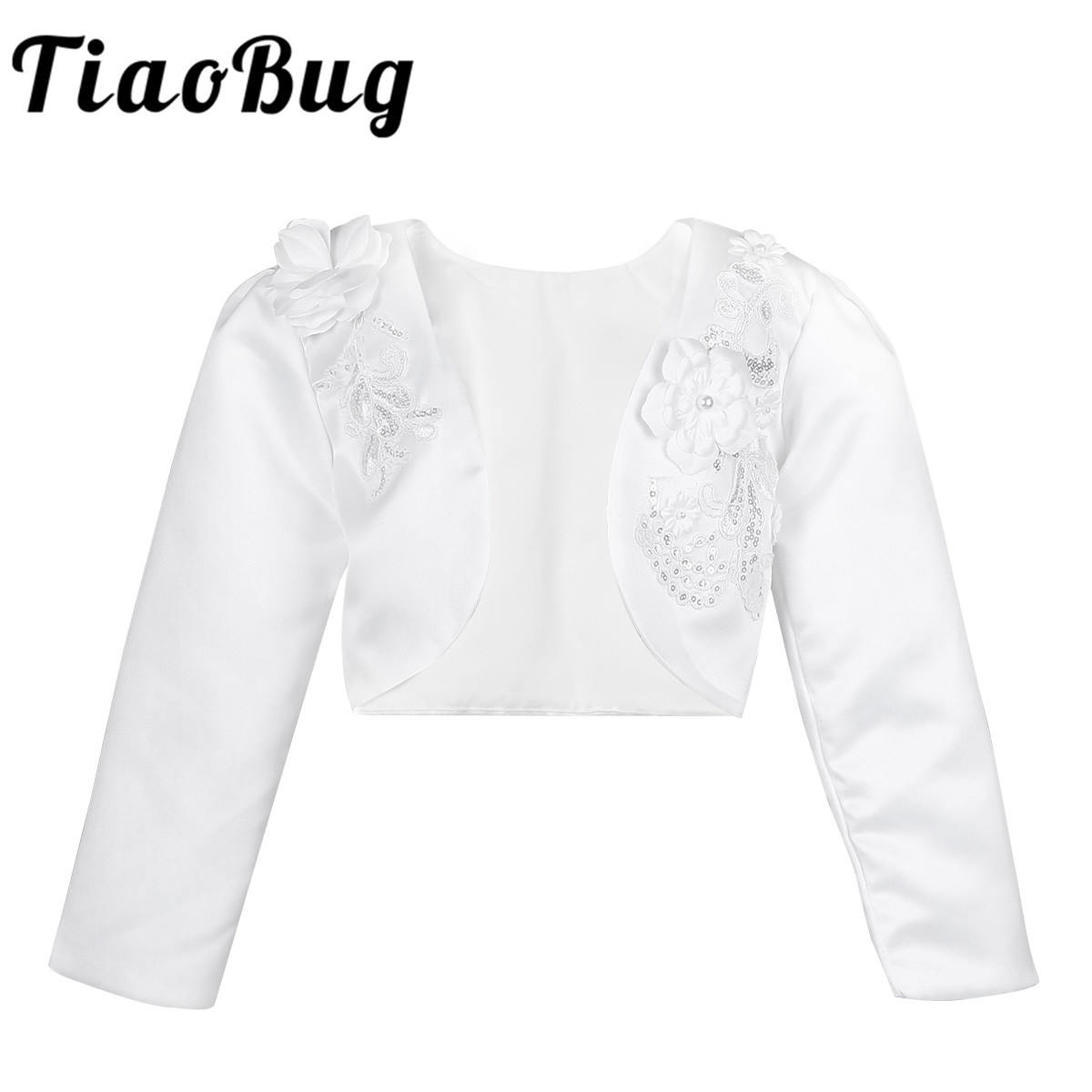 Flower Girls Bolero Shrug Short Cardigan for Bridesmaids Wedding Birthday Party