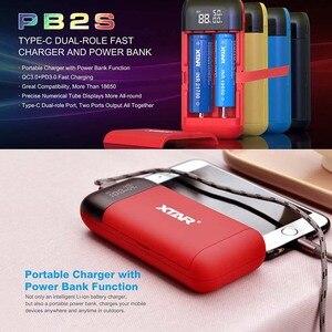 Image 4 - XTAR PB2S 18650 batterie banque dalimentation de chargeur noir rouge bleu LCD Li ion chargeur de batterie 18650 20700 21700 chargeur de batterie batterie externe