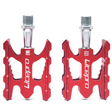 LITEPRO MTB Mountain Bike Pedal K3 Road Folding Bicycle Ultralight Aluminum Alloy 412 10.8*6.2mm Bearing Pedal Foot