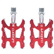 Litepro pedal de bicicleta mtb k3, pedal de ciclismo dobrável ultraleve de liga de alumínio 412 10.8*6.2mm com rolamento