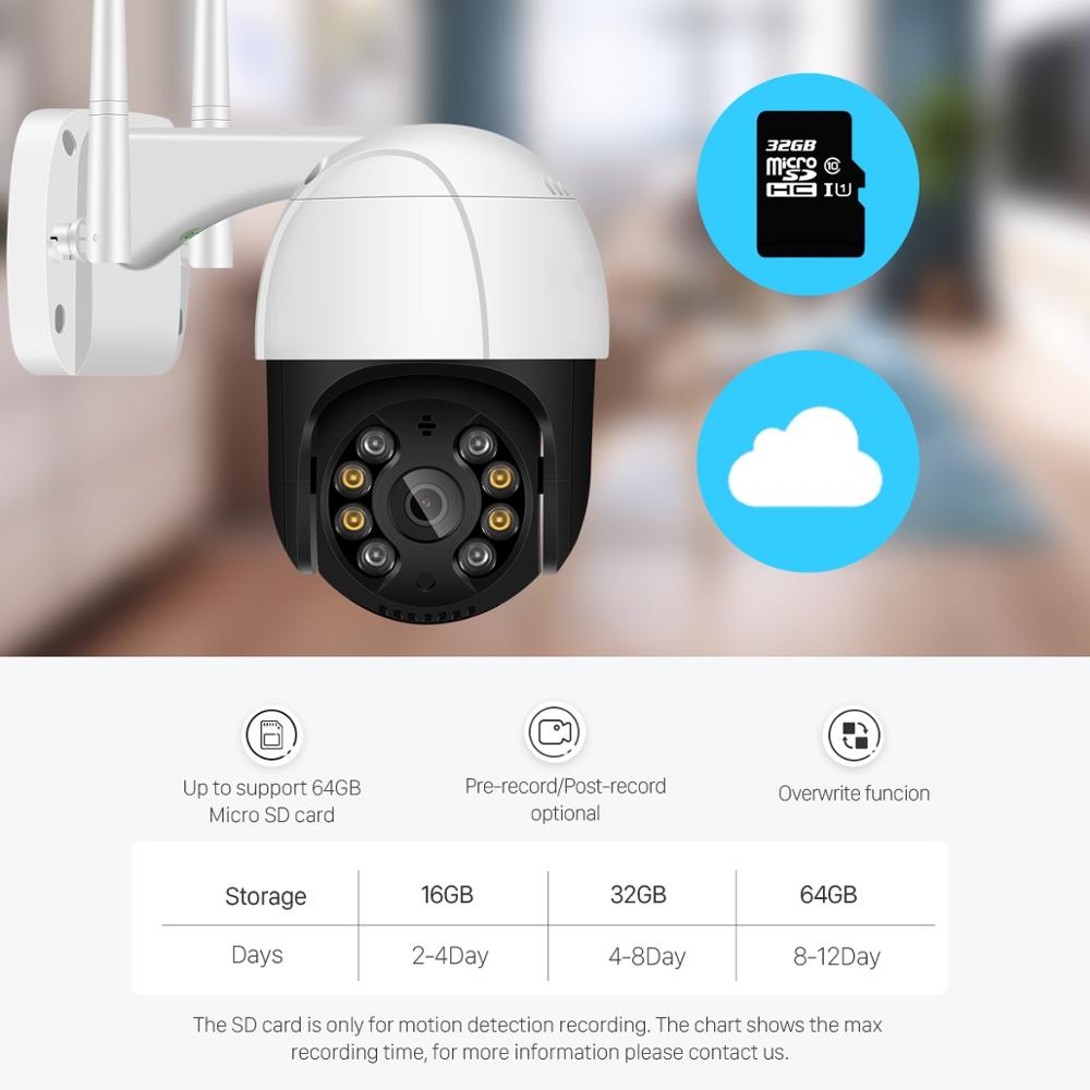 Wifi IP Camera Outdoor 4X Digital Zoom AI Human Detect Wireless Camera 6