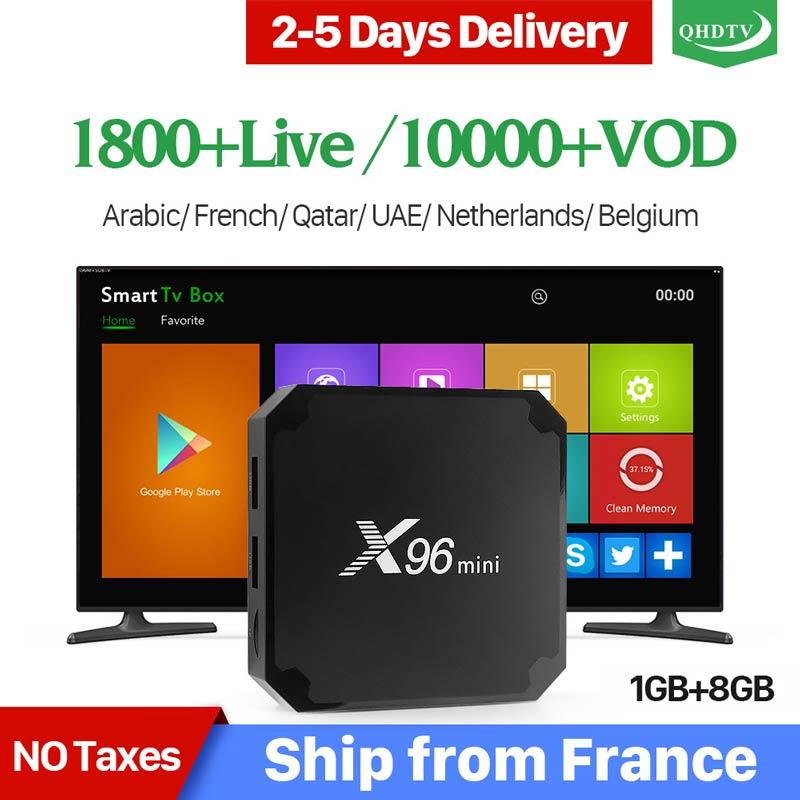 X96 Mini France IPTV Box Android 7.1 S905W Quad Core X96mini Set-top Box 1 Year QHDTV Code IPTV Belgium Arabic French IPTV Box