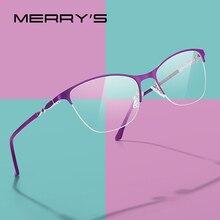 MERRYS DESIGN Women Cat Eye Glasses Half Frame Ladies Fashion Trending Eyewear M