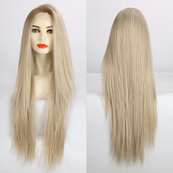 EASIHAIR Long Straight Blonde Lace Front Synthetic Wigs High Density Heat Resistant for Women Layered Cosplay - discount item  53% OFF Synthetic Hair
