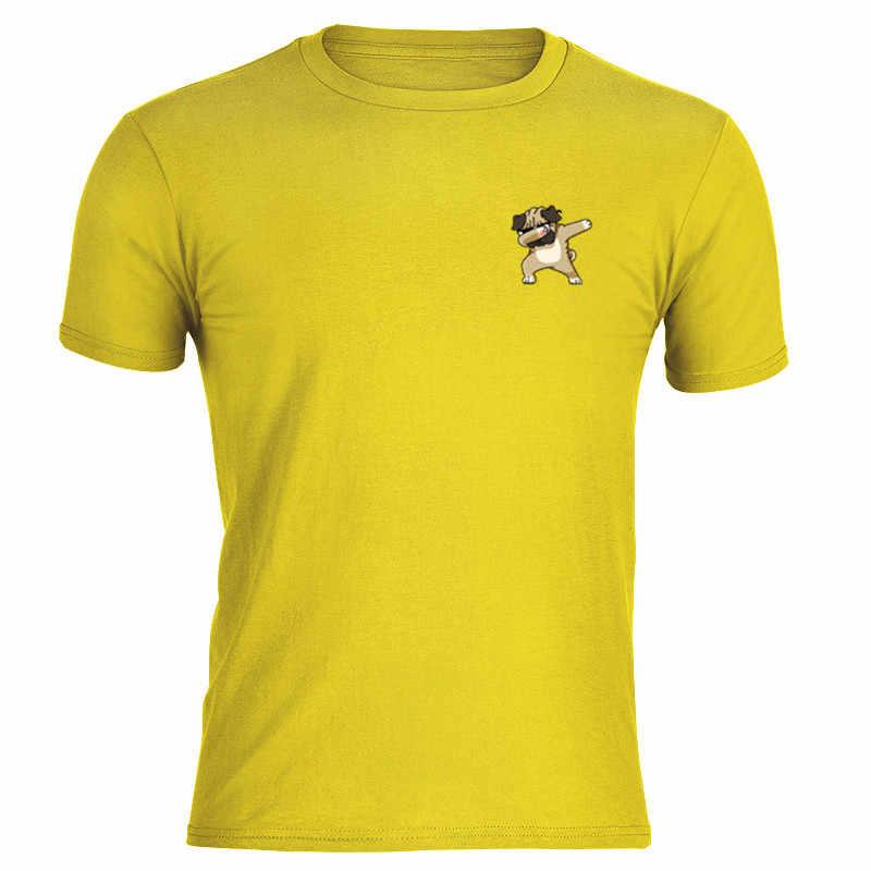 2019 ร้อนสั้น Tees ผู้ชายผู้หญิงฝ้ายสบายๆน่ารักสุนัขตลก O-Neck พิมพ์โลโก้ Top แฟชั่นแขนสั้นเสื้อยืดนุ่ม man สีเหลือง