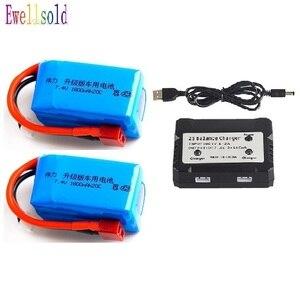 Ewellsold 1 шт.-3 шт. Wltoys A959-b A969-b A979-b K929-B RC автомобиль запасные части 7,4 V 1800mah литий-полимерный сменная батарейка 2S 20C/USB зарядное устройство