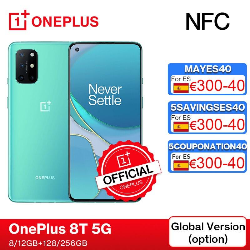 Глобальная прошивка OnePlus 8 T 8 T OnePlus официального магазина Carter's 8 ГБ 128 Snapdragon 865 5G смартфон 120 Гц активно-матричные осид жидкости Экран 48MP Quad 65W, к...