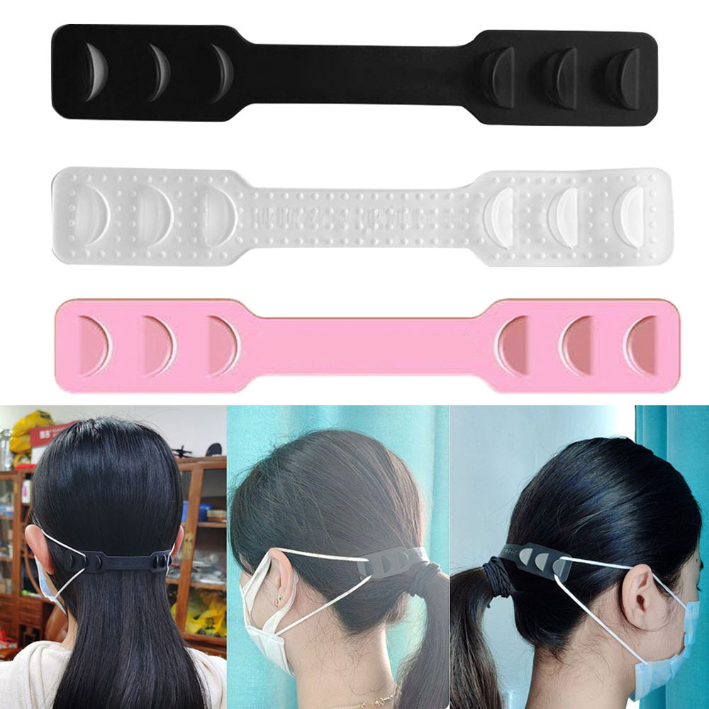 4 Pcs Adjustable Anti-slip Mask Ear Grips High Quality Extension Hook Face Masks Buckle Holder Accessories 10*3 Cm