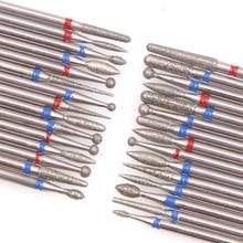 4 個のダイヤモンドカッターマニキュアセットシリコンセラミック石ネイルドリルビットセットロータリーキューティクルバリフライスペディキュア