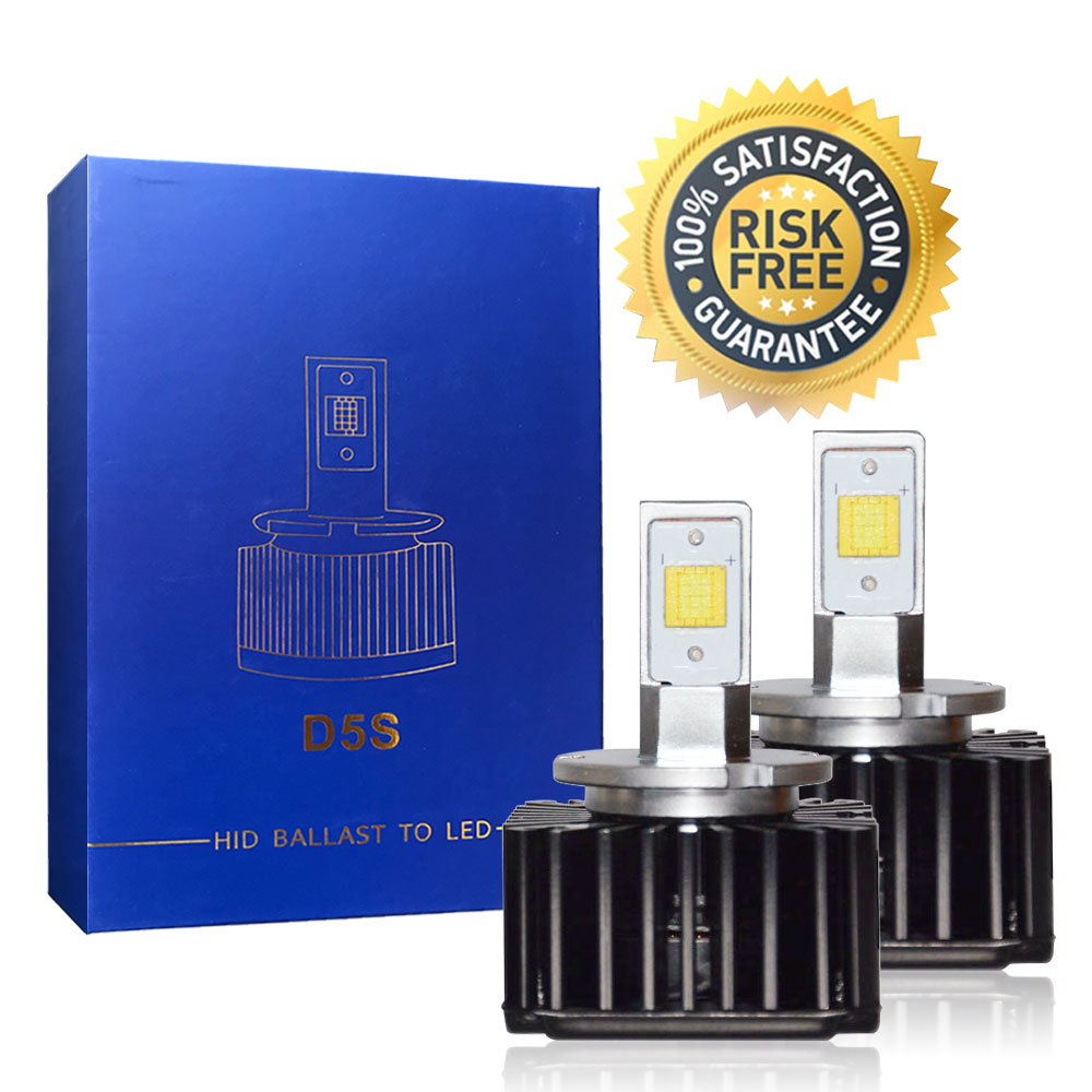 Bright <font><b>LED</b></font> Headlight Bulbs Conversion Kit D5S 7600LM <font><b>90W</b></font>, <font><b>LED</b></font> CSP <font><b>Chips</b></font> 6000K White Replace HID Xenon Lamps Plug and Play image