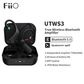 FiiO UTWS3 Bluetooth V5 0 aptX TWS + słuchawki douszne złącze MMCX 0 78mm z obsługą mikrofonu 30 godzin odtwarzania i kontrola aplikacji tanie i dobre opinie Inne CN (pochodzenie) Prawdziwie bezprzewodowe