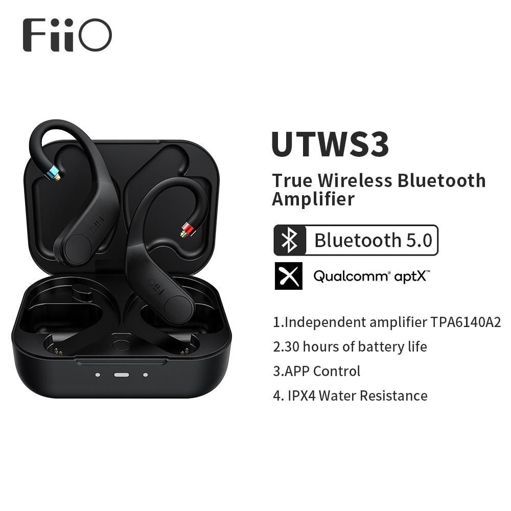 FiiO UTWS3 Bluetooth V5.0 aptX/TWS + крючок для наушников-вкладышей MMCX/0,78 мм разъем с микрофоном Поддержка/30 часов воспроизведения и управление приложением