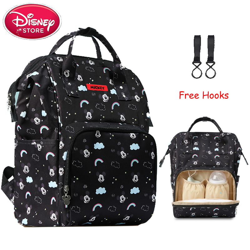 Disney Mickey Mouse Backpack Mummy Diaper Bag Multifunction Large Capacity Double Shoulder Travel Handbag Stroller Nappy Bag