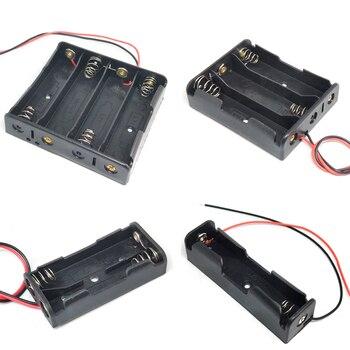 18650 Мощность случаи банковских карт 1x 2x 3x 4x Батарея ящик для хранения, на возраст 1, 2, 3, 4, слот дороги Сделай Сам зажим для батарей держатель Контейнер с проводом свинцовая шпилька