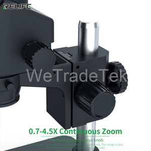 Image 5 - Relife Trinoculaire Stereo Microscoop 0.7 4.5X Continue Zoom Microscoop Met Camera Voor Telefoon Pcb Elektronische Reparatie Apparaat RL M3