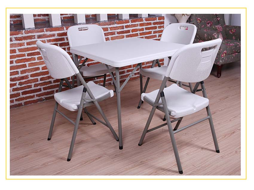 HDPE 2-4 Peoples Folding Square Table Portable Outdoor/Indoor Dining Table Best Solid Table Picnic BBQ Table