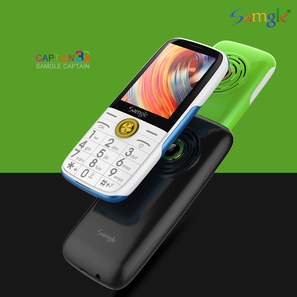Samgle Bar Feature Phone 3G WCDMA Super Long Standby Large Key HD Display Flashlight Lound Speaker Whatsapp Speed Call Simply