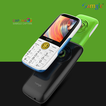 Samgle Bar Feature Phone 3G WCDMA Super Long Standby Large Key HD Display Flashl