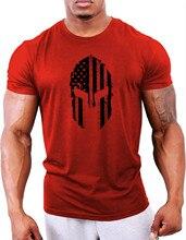 2020 new men's fitness t-shirt  gym training t-shirt