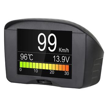 AUTOOL X50 Plus coche OBD2 HUD ordenador a bordo medidor Digital inteligente medidor de temperatura de agua indicador de voltaje medidor de velocidad Pantalla de cabeza
