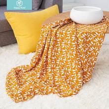 Happy Flute 1 шт. Муслин хлопок детские пеленки мягкие одеяла для новорожденных черно-белые марлевые младенческие обертывания