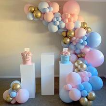 Pink Blue Arch Garland Balloon Kit Star Moon Foil Balloons Wedding Birthday Baby Shower Party Decor Supplies Air Balls Globos